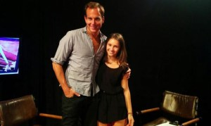 Hersh poses with actor Will Arnett after her interview. Photo Courtesy of How Hollywood Works
