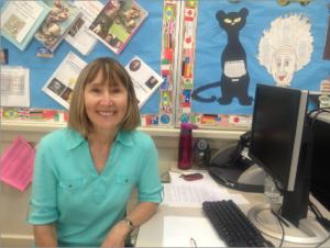 "History teacher Joanie Garratt's loving personality earned her the nickname ""Garebear"" from her students."