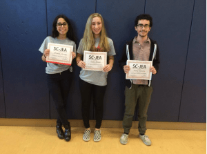 Brenda Nouray, Sadie Hersh and Charly Azoulay receive awards in photography.