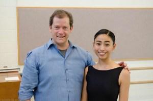 Elizabeth del Rosario poses with the director of Ballet West, Adam Sklute. Photo courtesy of: Elizabeth del Rosario