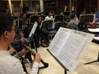 Band rehearses for its upcoming concert Photo by: Veronica Pahomova