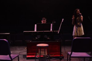 Juniors Sam Schwartz and Tianai Xiong play a riveting duet. Photo by: VIVIAN GEILIM