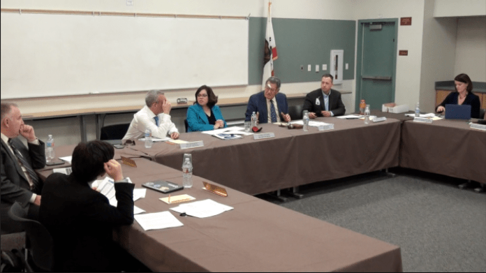 The Board of Education meets in the EDC for it's second budget study session on Feb. 17  Photo courtesy of: KBEV