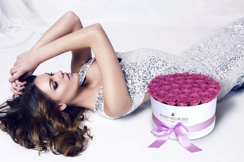 BeverlyHillsRoses Dubai luxury-glamour-pink-rosebox