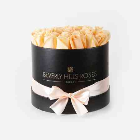 "Rose Flower Delivery ""Prosecco"" in Medium Black Box"