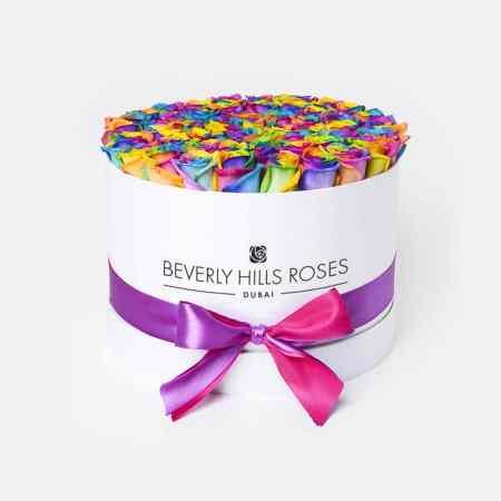 Medium white rose box in candy crush