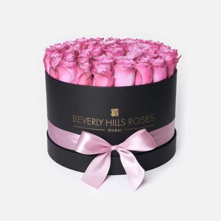 Medium black rose box in candy