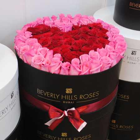 Large black rose box in affection