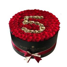 red rose number flower arrangement