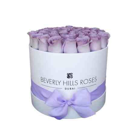 Medium white rose box in vintage