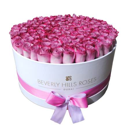 """Large White Rose Box in """"Candy """""""