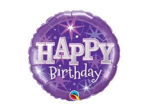 Birthday Purple balloon with helium