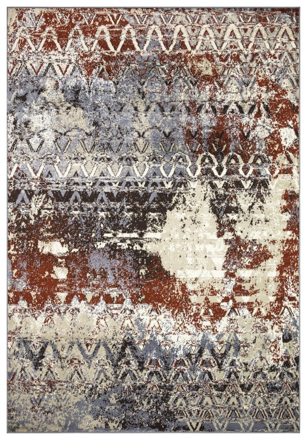 Beverly rug artemis collection vintage area rug 1012a grey firered
