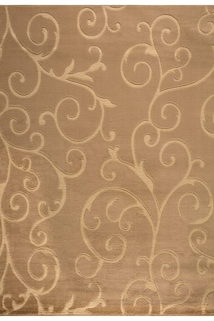 Beverly rug bella collection modern Floral Pattern area rug 00968a beige