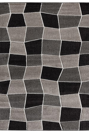 Beverly rug ibiza collection geometric blocks abstract area rug 2810 beige and brown