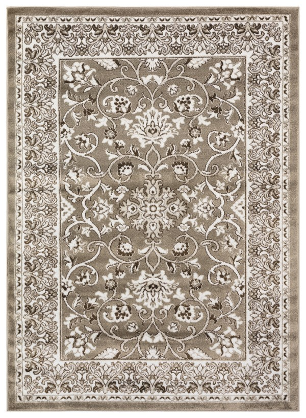 Beverly Rug Regal Collection Timeless Classic Traditional Area Rug 178 Bone Beige