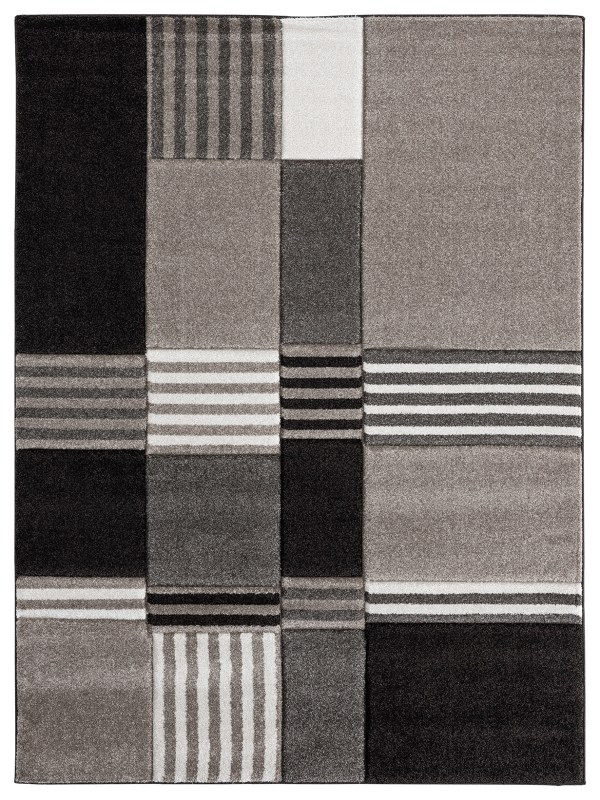 Beverly rug ibiza collection geometric blocks abstract area rug 2793 beige and brown
