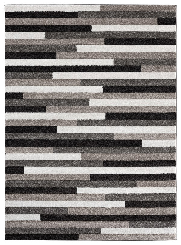Beverly rug ibiza collection geometric blocks abstract area rug 2812 beige and cream