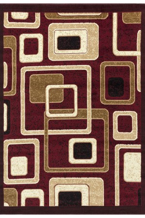 beverly rug Princess Collection Geometric Swirl Abstract Area Rug 807 beige burgundy