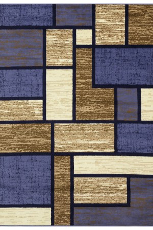 beverly rug Princess Collection Geometric Swirl Abstract Area Rug 809 cream blue