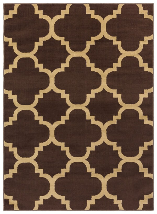 beverly rug princess collection moroccon trellis lattice area rug 810 beige and brown