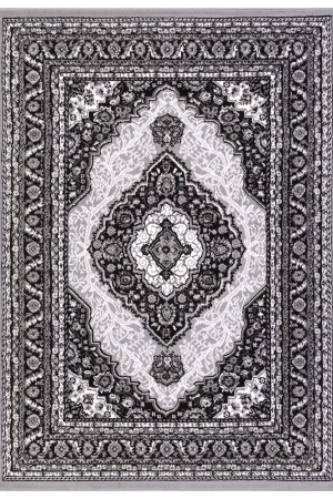 beverly rug princess collection oriental medallion area rug 812 black light green