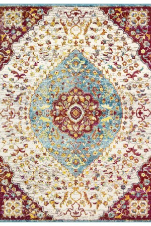 Beverly rug queen collection multi color bohemian area rug 2801 red