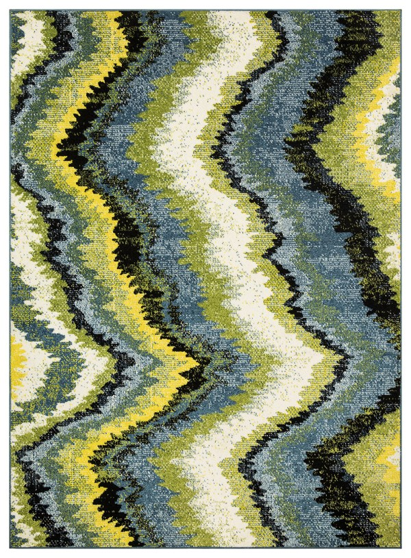 Beverly rug queen collection multi color modern and abstract area rug 2807