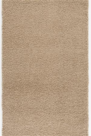 Malibu Collection Modern Shaggy Area Rug Beige