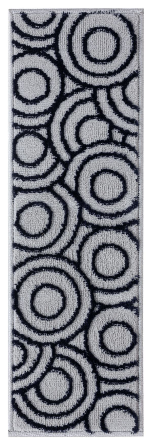 Beverly Rug Soft Rug Stair Treads Circles Design - Navy