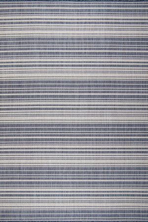 Waikiki Collection Indoor/Outdoor Stripes Area Rug - Blue & White