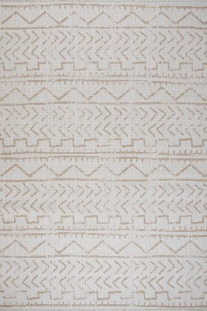Waikiki Collection Indoor/Outdoor Trellis Area Rug - Beige & White