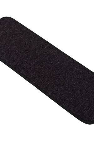 """Beverly Rug Solid Color Indoor Carpet Stair Treads 8'5""""x26"""" Black"""