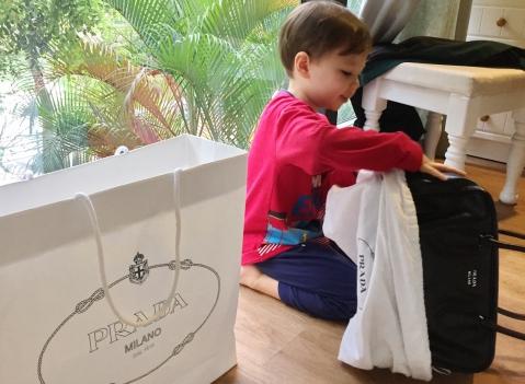 Prada inside out bag