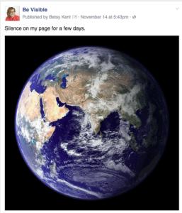 social media marketing during disaster, be visible, betsy kent