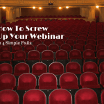 webinar, betsy kent, screw up webinar, be visible