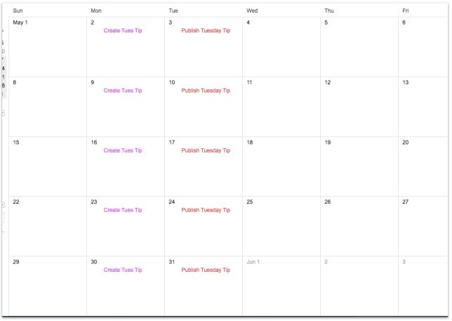 blog calendar, need a blog calendar, betsy ken, be visible, blog school