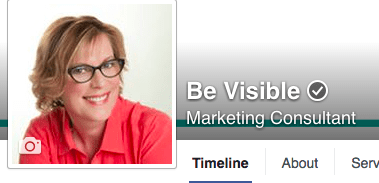 Verify Facebook Business Page, betsy kent, be visible, blog school