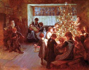 Albert_Chevallier_Tayler_-_The_Christmas_Tree_1911 Christmas in 19th-century