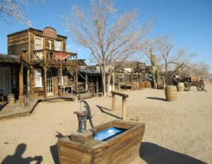 Ghost town, Old West scene