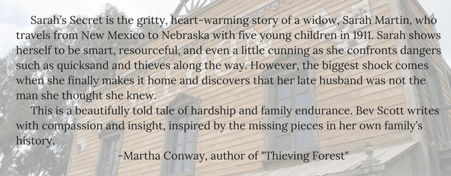 Testimonial M. Conway for Bev Scott Author