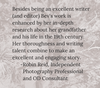 testimonial by Robin Reid for Bev Scott Author