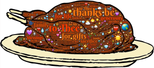Thanksgiving Turkey drawing, blog by Bev Scott