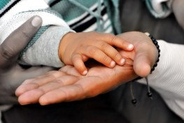 baby and father, hands, bev scott author, being grateful makes me happy
