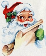 Santa Claus face, rosy cheeks