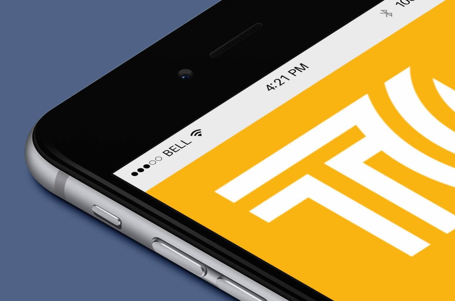 TrustComm Logo on iPhone