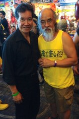 Peter Kwong and Al Leong at Son of Monsterpalooza in Burbank on September 19, 2015.