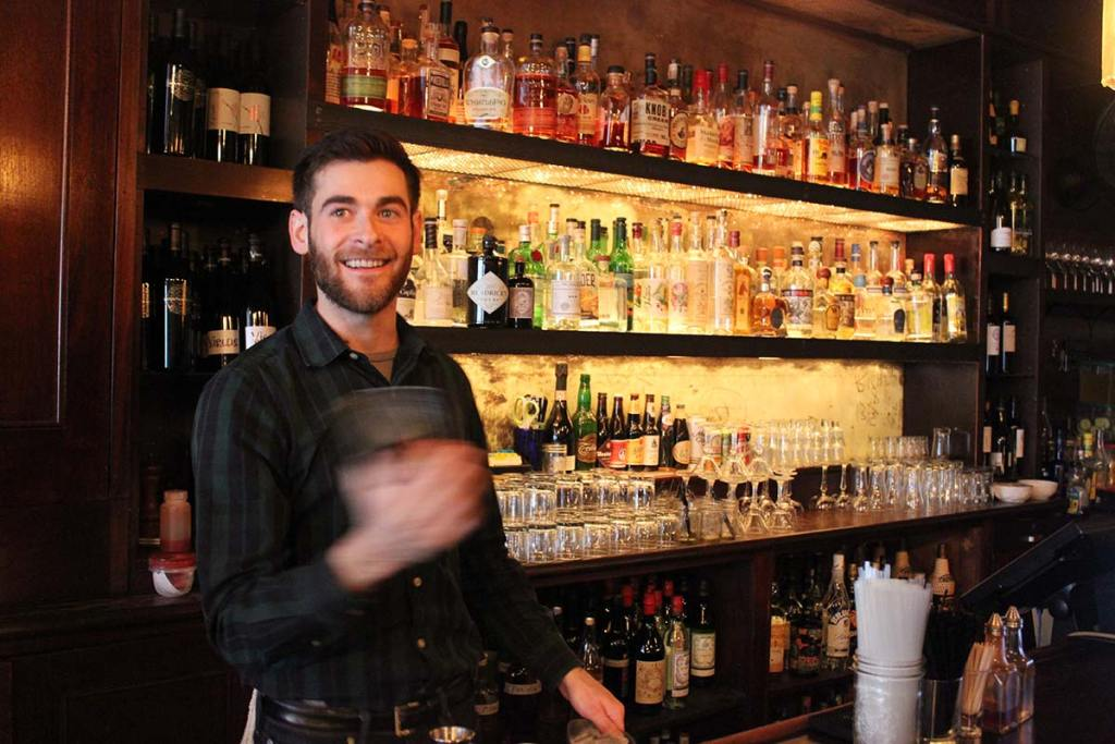 andrew meltzer mixing a drink