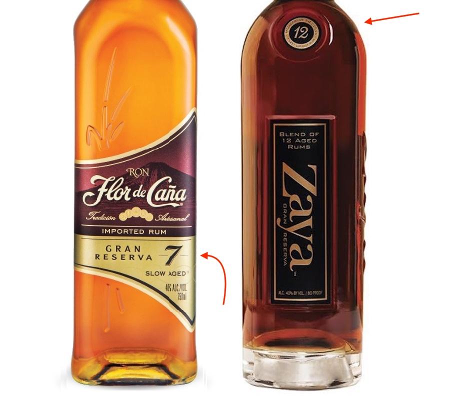 zaya 12 and flor de cana rums