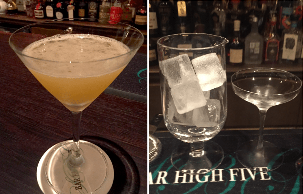 Cocktails at Bar High Five in Tokyo